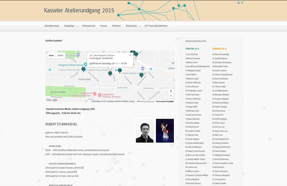 Kasseler Atelierrundgang Webseite