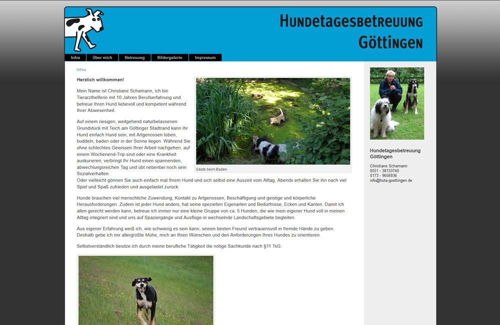 Hundetagesbetreuung Göttingen Webseite