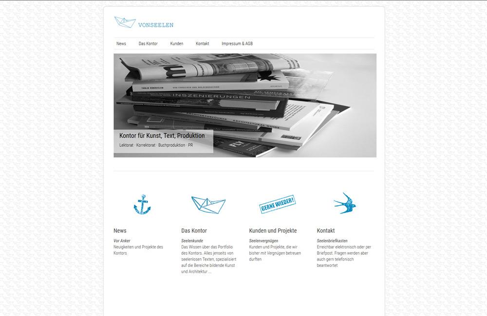 Kontor Vonseelen Webseite